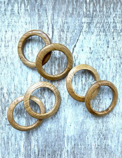 Oak Barrel Hoop Earrings